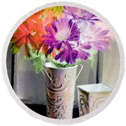 Country Comfort - Photopower 493 Round Beach Towel