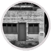 Country Corner Round Beach Towel by David Lee Thompson