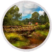 Country - Country Living Round Beach Towel