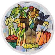 Country Fall Round Beach Towel