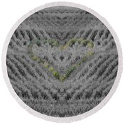 Country Heart Round Beach Towel