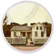 Country Home Round Beach Towel