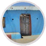 Country House... Round Beach Towel