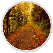 Country Lane V2 Round Beach Towel