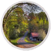 Country Lanes Round Beach Towel