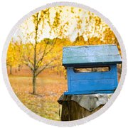 Country Letterbox Round Beach Towel