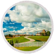 Country Living Painted Round Beach Towel