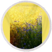 Country Road 2 Round Beach Towel