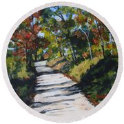 Country Road Two Round Beach Towel