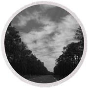 Country Roads Round Beach Towel