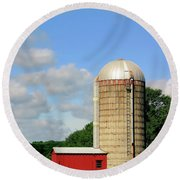 Country Silo Round Beach Towel