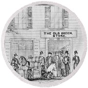 Country Store, 1847 Round Beach Towel