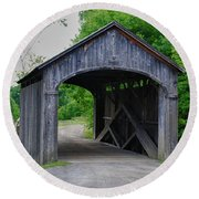 Country Store Bridge 5656 Round Beach Towel