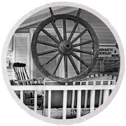 Country Store Round Beach Towel