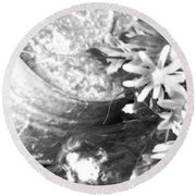 Country Summer - Bw 05 Round Beach Towel