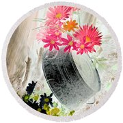 Country Summer - Photopower 1502 Round Beach Towel