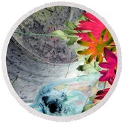 Country Summer - Photopower 1511 Round Beach Towel