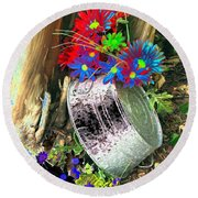 Country Summer - Photopower 1517 Round Beach Towel