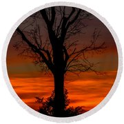 Country Sunsets Round Beach Towel