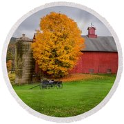 Country Wagon Square Round Beach Towel