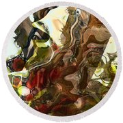 Countryside Creatures Round Beach Towel
