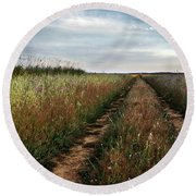 Countryside Tracks Round Beach Towel