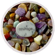 Courage Round Beach Towel
