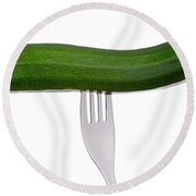 Courgette Or Zucchini On White Round Beach Towel