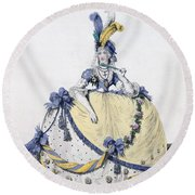 Court Dress, Fig. 106 From The Gallery Round Beach Towel
