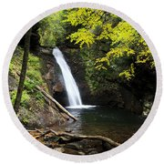 Courthouse Falls In North Carolina Round Beach Towel