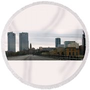 Courthouse Fort Worth Texas Round Beach Towel