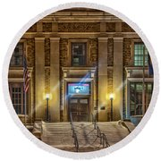 Courthouse Steps Round Beach Towel