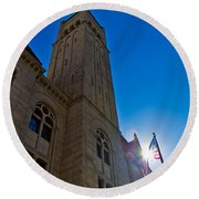Courthouse Tower Round Beach Towel