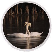 Courtship Painting Round Beach Towel