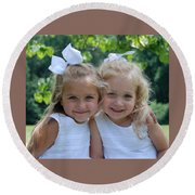 Cousins Round Beach Towel