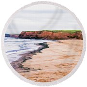 Cousins Shore Prince Edward Island Round Beach Towel by Edward Fielding