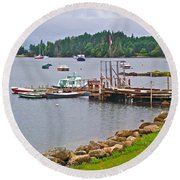 Cove In Glen Margaret-ns Round Beach Towel