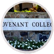 Covenant College Sign Round Beach Towel