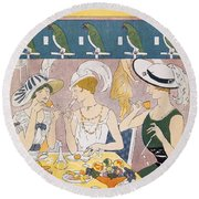 Cover Illustration From La Baionnette Round Beach Towel