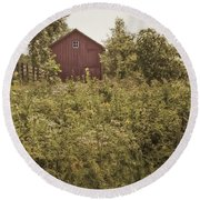 Covered Barn Round Beach Towel