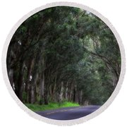 Covered By Trees Round Beach Towel