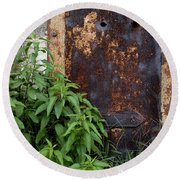 Covered In Rust Round Beach Towel