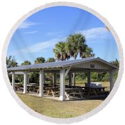 Covered Picnic Tables Round Beach Towel