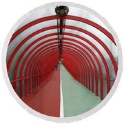Covered Walkway 01 Round Beach Towel