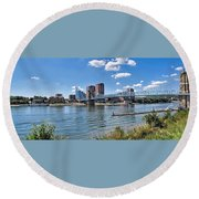 Covington Kentucky Round Beach Towel