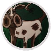 Cow Round Beach Towel