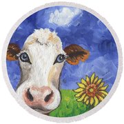 Cow Fantasy One Round Beach Towel