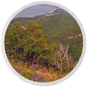 Cow Vetch In Cape Breton Highlands Np-ns Round Beach Towel