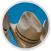 Cowboy Days Round Beach Towel