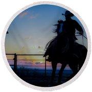 Cowboy Pirouette Round Beach Towel